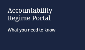 Accountability Regime Portal: What you need to know