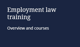 Employment law training: Overview and courses
