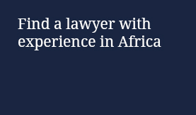 Find a lawyer with experience in Africa