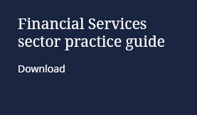 Financial Services sector practice guide: download