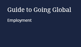 Guide to Going Global: Employment