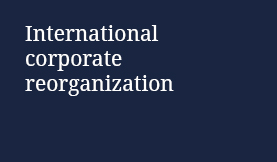 International corporate reorganization