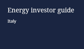 Energy Investor Guide: Italy