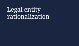 Legal entity rationalization