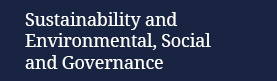 Sustainability and Environmental, Social and Governance practice