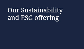 Sustainability and ESG offering