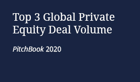Top 3 Global Private Equity Deal Volume, PitchBook 2020