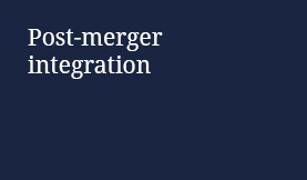 Post-merger integration