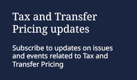 Tax Transfer Pricing Highlight