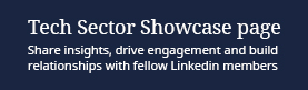 Tech Sector Showcase Page: Share insights, drive engagement and build relationships with fellow LinkedIn members