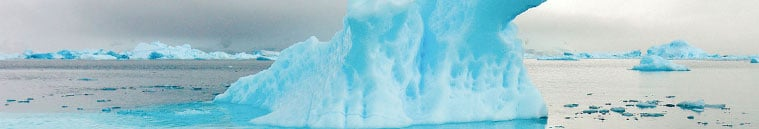 Banner image of glaciers