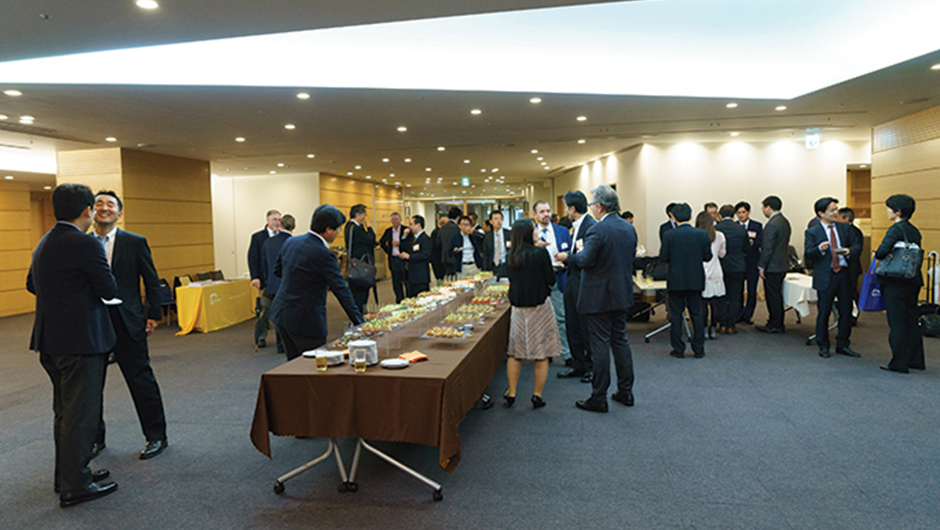 Image of IP event attendees at networking reception