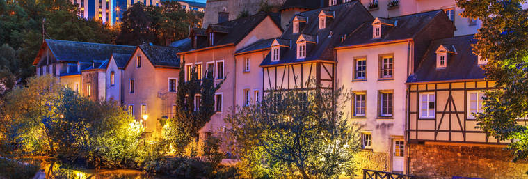 Cityscape of Luxembourg city