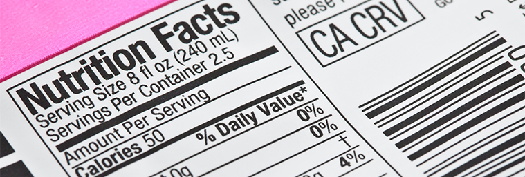 Image of a food label