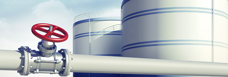 Image of gas valve and tanks.