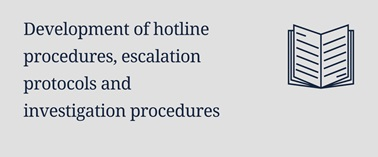 Development of hotline procedures