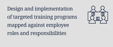 Design and implementation of targeted training programs