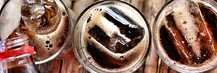 Image of soda in a glass