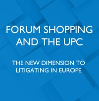 Forum shopping and the UPC