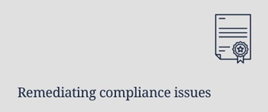 Remediating compliance issues