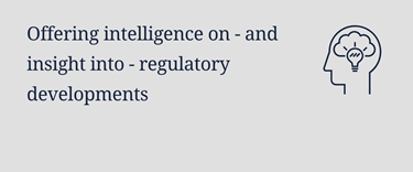 Offering intelligence into regulatory developments